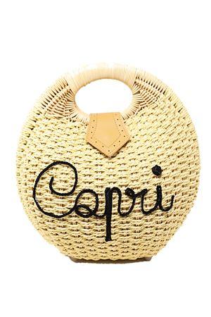 Capri straw bag  La Bottega delle Idee | 31 | BORSATONDAPAGLIAROUNDBAG