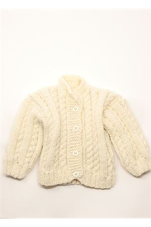 Pure merino wool cardigan for newborn  La Bottega delle Idee | 7 | CARDIGANLUNGACREAM