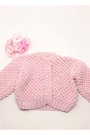 Pink cardigan in pure qwool for new born  La Bottega delle Idee | 7 | CARDIGANLUNGAROSA