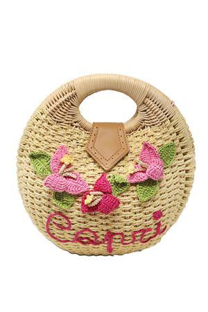 Round handbag with Capri Bouganvillea La Bottega delle Idee | 31 | TONDABAGBOUGANVILLEA