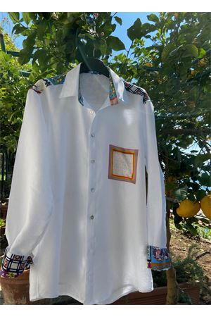 White tailo-made linen shirt for men La Dolce vista | 6 | CAMICIALINOUOMOBIANCA