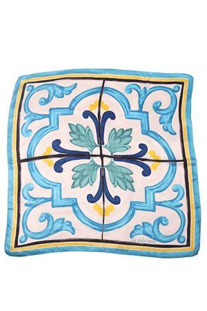 Pure silk scarf with majolica pattern  La Dolce Vista | -709280361 | CLASSIC MAIOILICAMAIOLICA