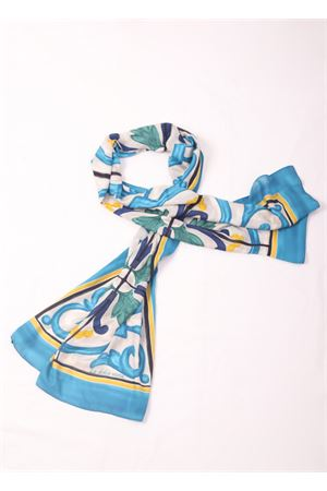 Pashmina in modal and cachemire with majolica pattern  La Dolce Vista | 77 | MAIOLICAAZZURRO