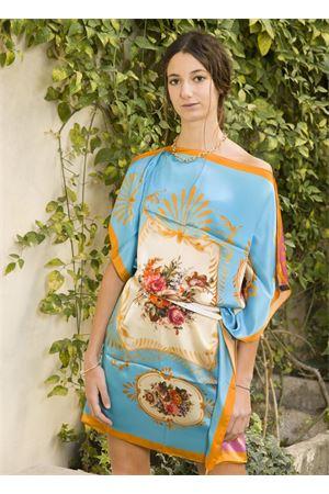Tunica in seta con fiori La Dolce vista | 5032262 | TUNICAVESTITOFIORI