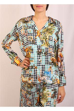 •Sartorial blouse in pure silk Laboratorio Capri | 6 | BLUSASMICHELEVERDE