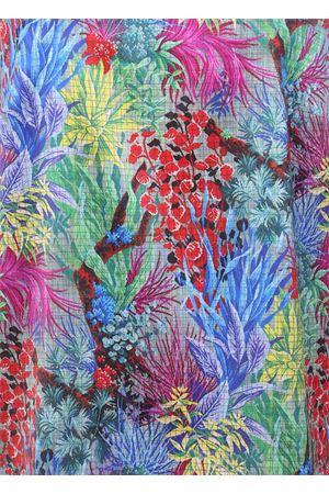 Minigonna con fantasia di foglie in pura seta Laboratorio Capri | 15 | CALLESFOGLIE MULTI