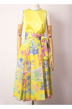 Yellow full-length midi skirt  Laboratorio Capri | 15 | CERCOLACACTUS GIALLO