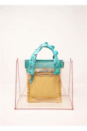 Crocodile handles PVC hand bag  Laboratorio Capri | 31 | GRETAPVCTURCHESE