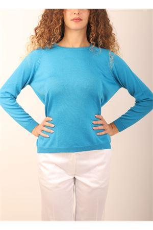 maglia girocollo in cashmere azzurro Laboratorio Capri | 7 | FELPAHAPPY