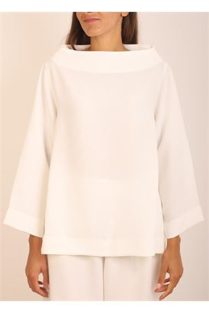 White blouse in microfiber Laboratorio Capri | 5032233 | KLIMTBIANCO