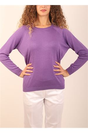 Violet sweater in cashmere and silk  Laboratorio Capri | 7 | FELPALALALANA