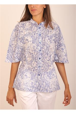 White and blue shirt with wide sleeves Laboratorio Capri | 6 | LONGANOTOILE DE JOUY