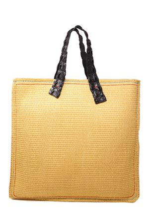 straw shopper with black crocodile handles Laboratorio Capri | 31 | MARISANERO