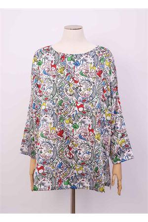 Multicolored t-shirt in pure silk  Laboratorio Capri | 8 | MAXITSHIRTCHINAMULTI