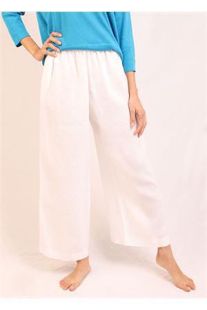 Pantaloni elasticizzati in lino bianco Laboratorio Capri | 9 | MELBOURNEBIANCO