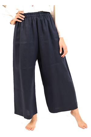 Pantaloni elasticizzati in lino blu Laboratorio Capri | 9 | MELBOURNEBLUE