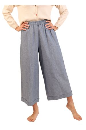 Pantaloni in cotone color denim Laboratorio Capri | 9 | NEWRODCHAMBRE