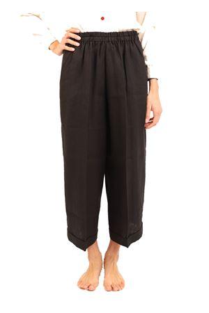 pantaloni in lino nero Laboratorio Capri | 9 | NEWRODNERO