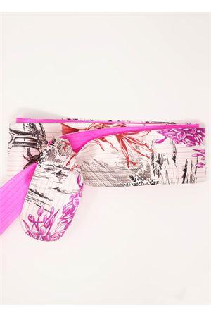 Pure silk doubleface belt  Laboratorio Capri | 22 | OBICACTUSBIANCOFUXIA