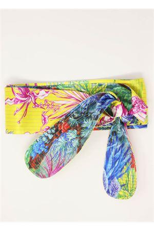 Obi belt with leaves pattern  Laboratorio Capri | 22 | OBICACTUSGIALLOFOGLIE