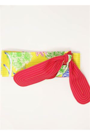 Yellow and fuchsia silk obi belt  Laboratorio Capri | 22 | OBICACTUSGIALLOFUCSIA