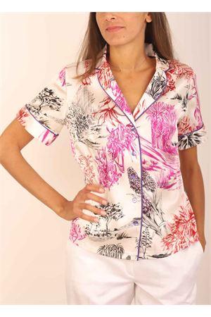 Camicia in seta stile pigiama Laboratorio Capri | 6 | PIGIAMINICACTUSBIANCO