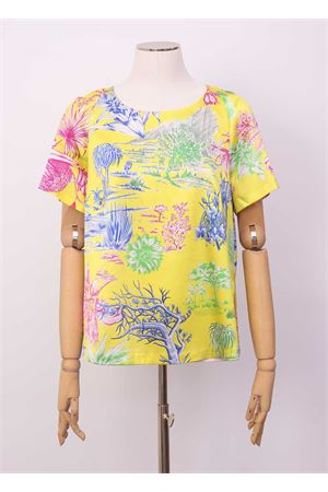 Yellow silk t-shirt  Laboratorio Capri | 8 | ROSYCACTUSGIALLO