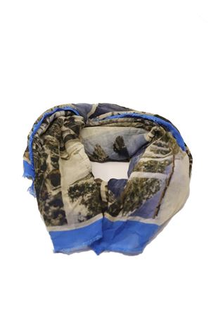 Scarf with antique Capri postcards Laboratorio Capri | 77 | S140-130MULTICARTAZZ