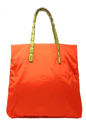Orange shopper bag with crocodile handles Laboratorio Capri | 31 | SANTA MARIAARANCIOVERDE