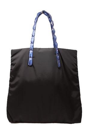 shopper con manici in coccodrillo Laboratorio Capri | 31 | SANTA MARIABLACKCOBALTBLUE