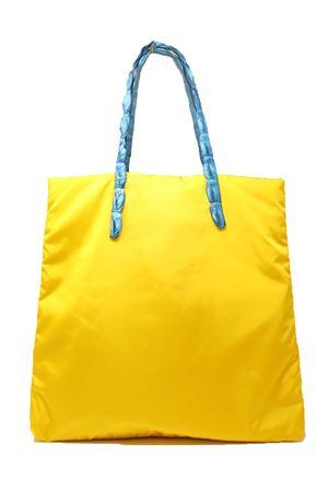 shopper gialla con manici in coccodrillo Laboratorio Capri | 31 | SANTA MARIAGIALLOAZZURRO