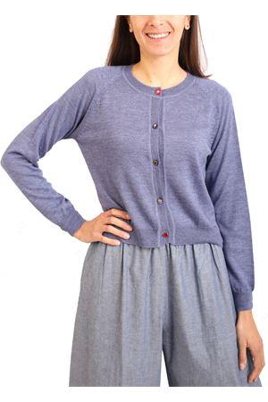 blue-lilac silk and cashmere cardigan Laboratorio Capri | 39 | SPICCHICRDDELAVE