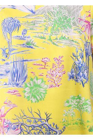 Vestito lungo in seta con fantasia cactus Laboratorio Capri | 5032262 | VENTROSACACTUSGIALLO