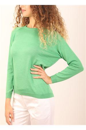 maglia in cashmere verde prato Laboratorio Capri | 7 | FELPAVPRATO32696
