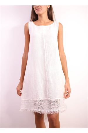 Short white linen dress  Linomania | 5032262 | ABITOCAMPANABIANCO