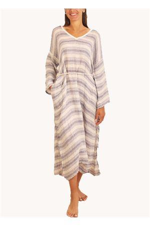 Long linen dress with stripes  Linomania | 5032262 | ABITOLUNGOCIELO