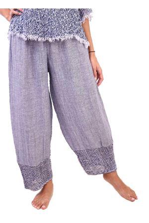 Pantalone in lino blu alla caviglia Linomania | 9 | ANNIESBLU