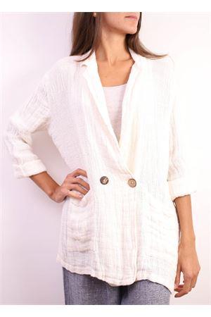 blazer over size in lino bianco Linomania | 3 | BLAZERBIANCO