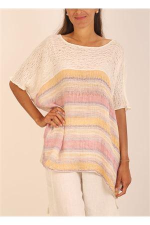 casacca in lino multicolore Linomania | 5032233 | CASACCALINOROSAGIALLA