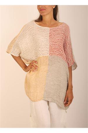 casacca in lino a quadri Linomania | 5032233 | CASACCALINOSCACCHIROSSO