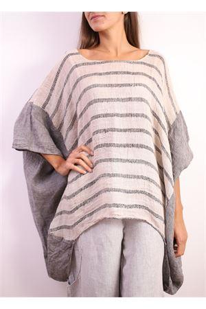 casacca in puro lino a righe Linomania | 2035781291 | CBOMBARIGABLU