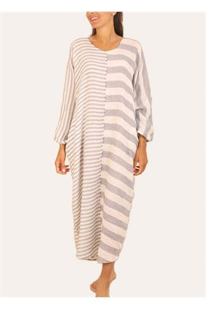 Long linen dress with stripes Linomania | 5032262 | MAXIABITOAZZURRO