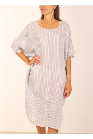 Maxi dress in pure linen  Linomania | 5032262 | MAXIABITOBLU