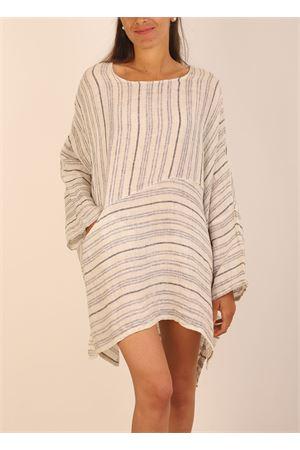 Mini dress in linen with stripes  Linomania | 5032262 | MINIABITOLINOBEIGE