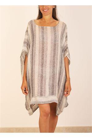 Mini dress in pure linen  Linomania | 5032262 | MINIABITOLINOGRIGIO