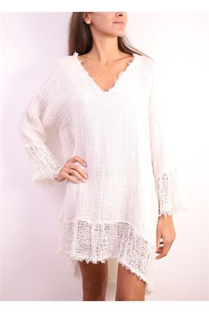 Short dress in pure white linen  Linomania | 2035781291 | MINIBELLEZZABIANCO