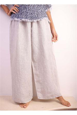 pantalone ampio in lino grigio Linomania | 9 | PTFAROGRIGIO