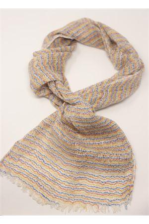 Handmade linen scarf Linomania | 77 | SCIARPALINOTELAIOARANCIONE