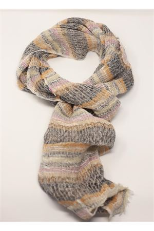 Pure linen scarf  Linomania | 77 | SCIARPALINOTELAIOGRIGIOFUXIA