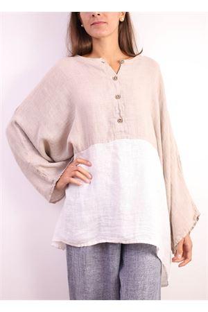 casacca in puro lino bicolore Linomania | 2035781291 | SPLENDIDABEIGE